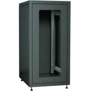 ITK LE05-18U68-GM Шкаф сетевой напольный LINEA E 18U 600х800мм стеклянная передняя дверь задняя металлическая черный