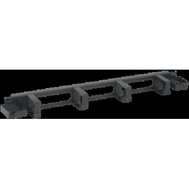 ITK CO05-1M6R Кабельный органайзер 1U 2 боковых горизонтальных и 4 вертикальных кольца черный
