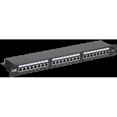 ITK PP24-1UC6S-D05 1U патч-панель кат.6 STP 24 порта (Dual) с кабельным органайзером