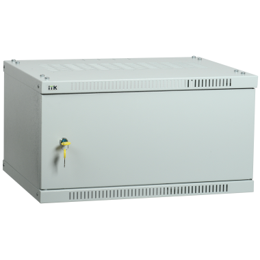 ITK LWE3-06U53-MF Шкаф настенный LINEA WE 6U 550x350мм дверь металл серый