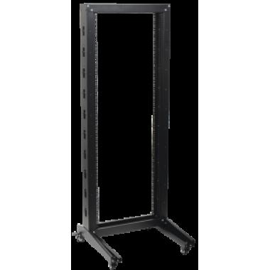 ITK LF05-32U66-1R Стойка открытая монтажная однорамная LINEA F 32U 600x600мм на роликах черная