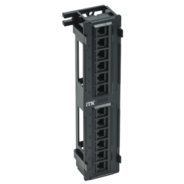 ITK PP12-C5EU-D05 Настенная патч-панель кат.5Е UTP 12 портов (IDC Dual)