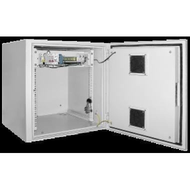 """ITK LO35-09U66-M55 Шкаф уличный навесной 19"""" LINEA O 9U 650x600мм IP55 металлическая дверь серый"""
