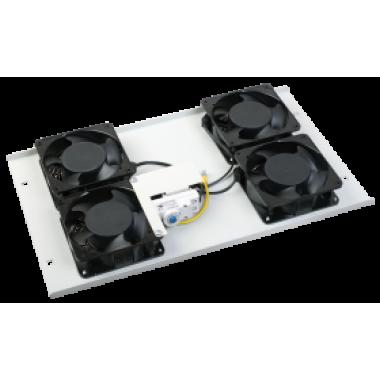ITK Потолочная вентиляторная панель с термостатом 4 вентилятора серая