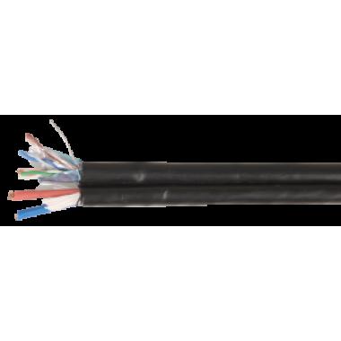 ITK LC3-C5E04-379 Витая пара F/UTP кат.5Е 4х2х24AWG solid LDPE + кабель питания 2x0,75мм2 305м черный