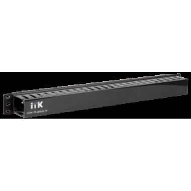 """ITK CO05-1PC 19"""" пластиковый кабельный органайзер с крышкой 1U глубина 60мм черный"""