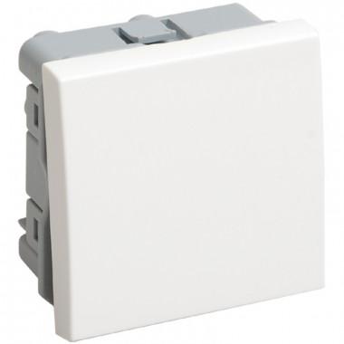 IEK CKK-40D-PO2-K01 ВК4-21-00-П Выключатель проходной (переключатель) одноклавишный (на 2 модуля) ПРАЙМЕР белый IEK