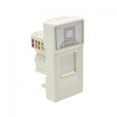 IEK CKK-40D-RI1-K01 РКИ-10-00-П Розетка информационная RJ-45 UTP кат.5e (на 1 модуль) ПРАЙМЕР белая IEK