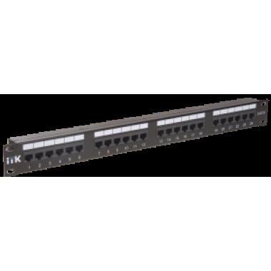 ITK PP24-1UC6U-D05 1U патч-панель кат.6 UTP 24 порта (Dual)
