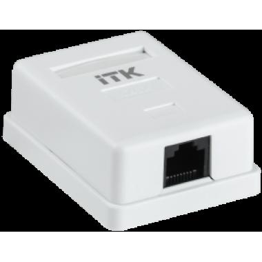 ITK CS2-1C06U-12 Настенная информационная розетка RJ45 категория 6 UTP 1-порт