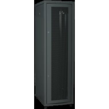 ITK LE05-42U68-PM Шкаф LINEA E 42U 600х800мм двери 2шт перф. и метал. чер.