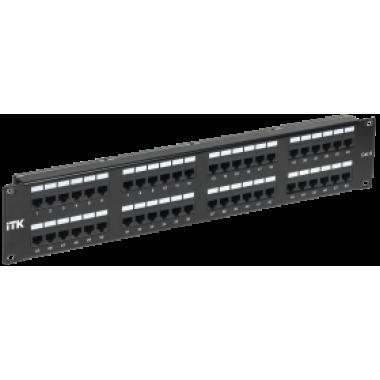 ITK PP48-2UC6U-D05 2U патч-панель кат.6 UTP 48 портов (Dual)